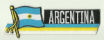 Argentina Embroidered Flag Patch, style 01.